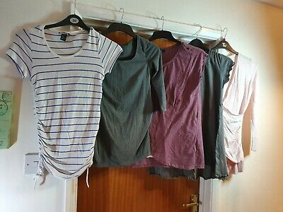 Maternity Top bundle - size 10-12 h&m, new look 5 tops