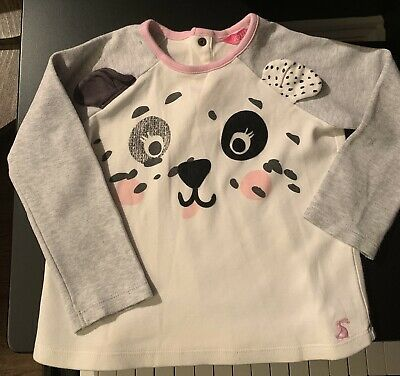 Joules Girls Pixie Screenprint T Shirt 1 6 Years in CHALKY PINK DALMATIAN
