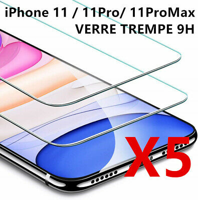 Protection iPhone 11/11 Pro Max/XS/XR/X 8 7 6 LOT/5 vitre verre trempe film