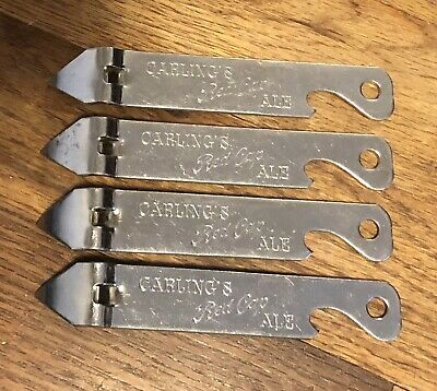 CARLING's Red Cap ALE Vintage Can Openers Minty Lot of 4