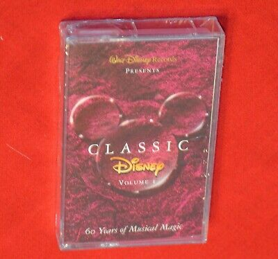 Classic Disney Volume I New Sealed Cassette Tape Movie Song Compilation