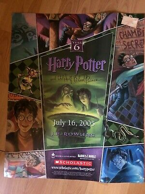 Harry Potter and the half blood prince book release POSTER 2005 at Barnes&Noble