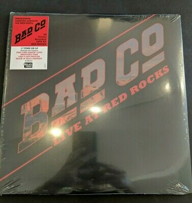 Bad Company Live At Red Rocks 2019 Black Friday Exclusive. NR. 2LP Red Vinyl