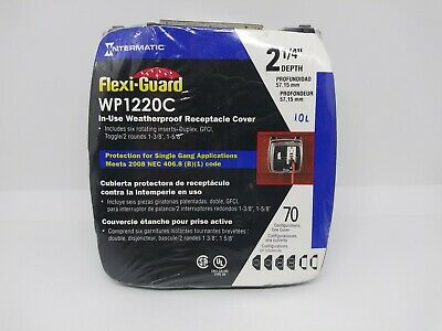 INTERMATIC Flexi-Guard WP1220C IN-USE WEATHERPROOF Receptacle Cover NEW