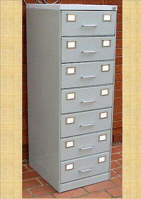 Duplex Card Metal Cabinet  7 Drawer (Split Drawer Storage)