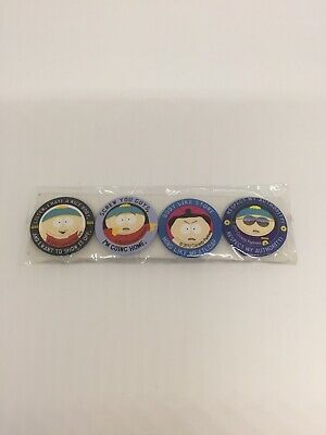 South Park ' Eric Cartman ' Button Badges  Lot Of 4 Sealed New.