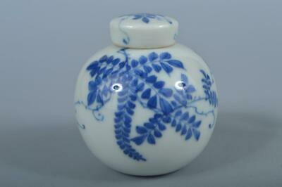 K3435: Japanese Kiyomizu-ware Arabesque pattern TEA CADDY Chaire Container