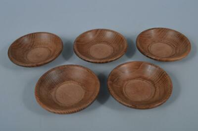 K4470: Japanese Wooden TEA CUP TRAY Saucer Chataku 5pcs,Tea Ceremony
