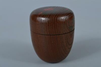 K4915: Japanese Old Wooden Mulberry tree Shapely TEA CADDY Natsume Chaire