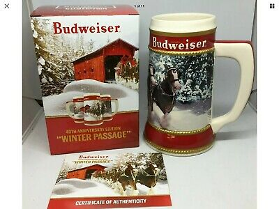 2019 Budweiser Holiday stein beer mug annual Christmas series WINTER PASSAGE