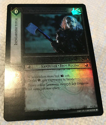 LOTR TCG 3C55 ISENGARD AXE *FOIL* M/NM Realms of the Elf Lords POLISH