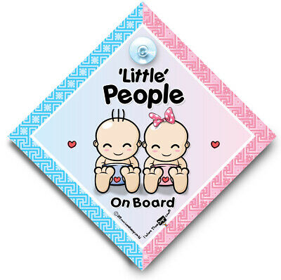 Little People On Board Car Sign, Baby On Board Sign, Suction Cup Sign