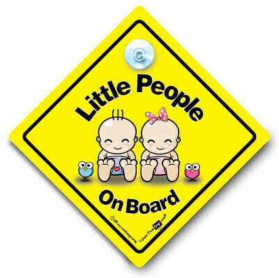 Little People On Board Car Sign One Of Each Baby On Board Sign Suction Cup Sign