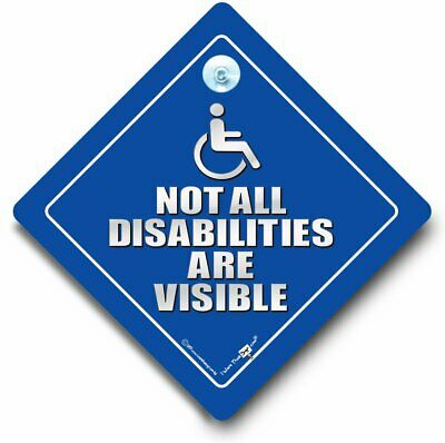 Not All DISABILITIES Are Visible Car Sign, Disabled Car Sign, Wheelchair Sign