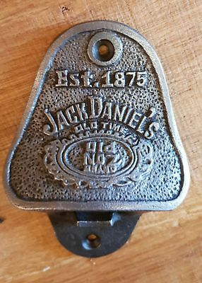 Cast Iron Wall Mounted Vintage Antique Style Bottle Opener - Jack Daniels No 7
