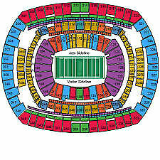 NEW YORK JETS vs Miami Dolphins  4 Tickets SEC 121 ROW 19  VIP PARKING EFG 12/08