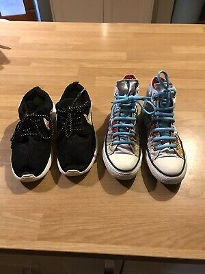 Converse And Nike Trainers Older Girls Size 3