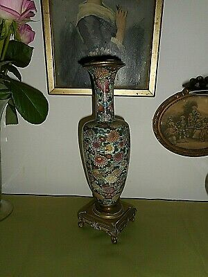 Antique 19th Century French cloisonne lamp base