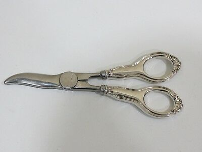 Antique Vintage TH. Marthinsen Norway Sterling Silver Handle Grape Shears