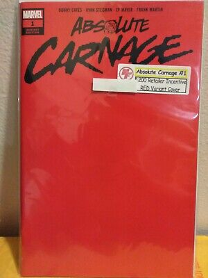 Absolute Carnage 1, 2019 (Red Blank Variant) 9.9 MT
