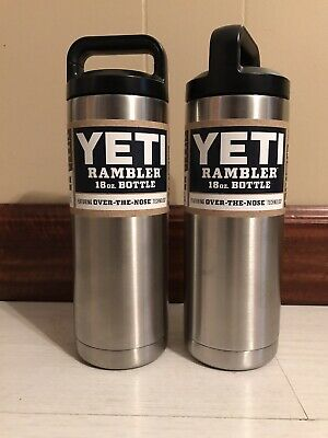 YETI Rambler Bottle 18oz Set Of 2 Stainless Steel Vacuum Insulated New Authentic