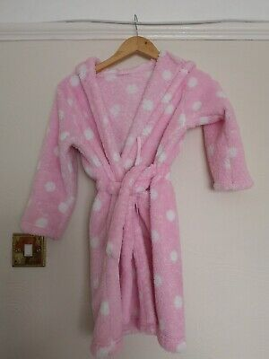 Lovely Girls M&S Pink Dressing Gown Aged 6/7