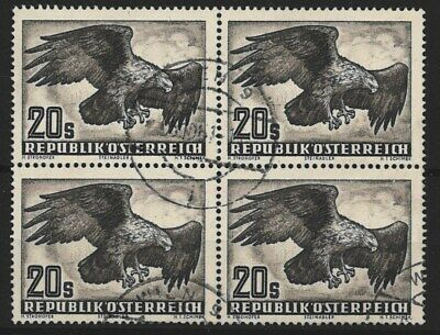 AUSTRIA Air Stamps, block of four Eagle design from 1950