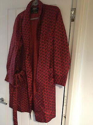 Mens Vintage Red Paisley St Michael Dressing Gown Med