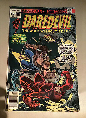 Marvel Comic Daredevil 144 Year 1977