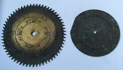 Two Late 18th / Early 19th Brass Clock Dials