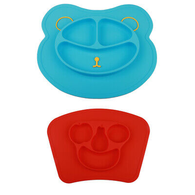 mockins Mess Free Silicone Suction Baby Placemat With Bowl & Plate