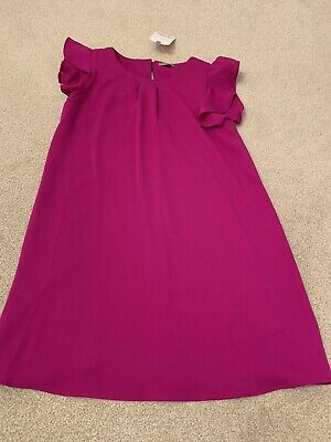 Bnwt Next Girls Fuschia Dress Age 7 Years Rrp£17