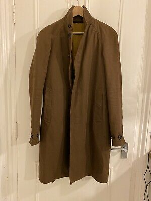 Burberry Prosum Belted Trench Coat Unisex Brown Padded Gilet Small 46