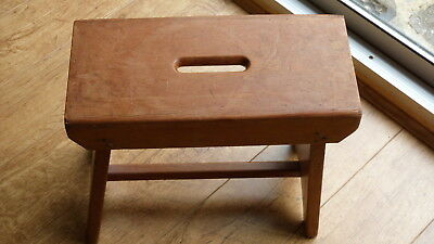 Old wooden small stool