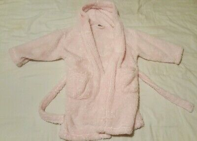 Girls 4-5 Years Pink Next Hooded Dressing Gown