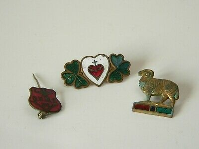 5 X JOBLOT ARMED FORCES VETERAN SHAMROCK IRISH POPPY REMEMBERANCE PIN BADGE