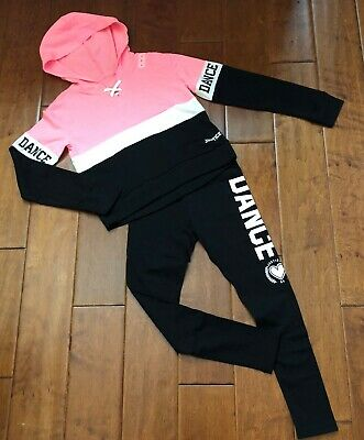 Nwt Justice Girls Size 12 Outfit~Dance Hooded Tee / Dance Leggings