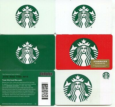 Complete Set 5 Different Newest 2019 Starbucks Holiday Siren 6176  Gift Card Htf