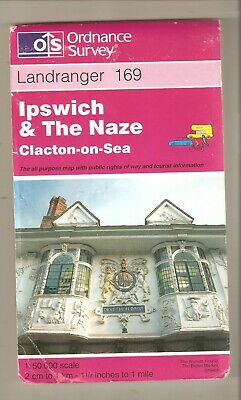 Ipswich, The Naze, Clacton-On-Sea: Landranger 169: Ordnance Survey Map.