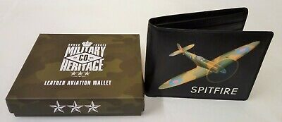 Military Heritage Leather Tray Purse Spitfire