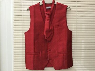 Next Boys Waistcoat Size 11Yrs Complete With Velcro Strap Tie Excellent Conditio