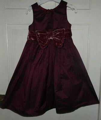 Next Girls Pretty Party Dress Velvet Bow - 5 Years