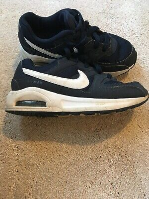 Blue Nike Air Max Trainers Size UK 1 Boys Girls Good Condition
