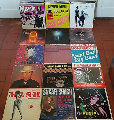 100 VINYL LP RECORDS JOB LOT Rock Punk Blues SOME NEW - ALL LISTED & GRADED