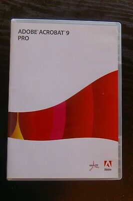 Adobe Acrobat 9 pro Windows DVD with Serial No.
