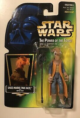 STAR WARS POTF Saelt Marae with hologram card  1997 KENNER MOC