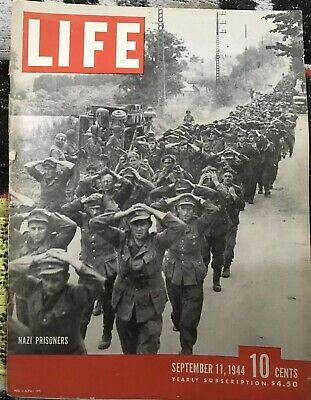 Antique LIFE MAGAZINE WWII September 11, 1944 Paris Independence Good Condition