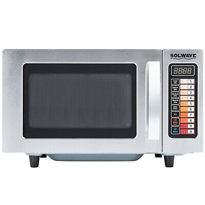Heavy Duty Stainless Steel Commercial Microwave Oven Push Button Controls 1000W