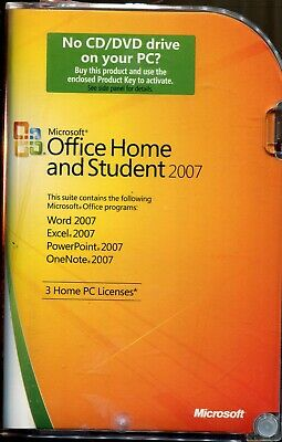 Microsoft Office Home and Student 2007 (3-User) with Product Key & COA