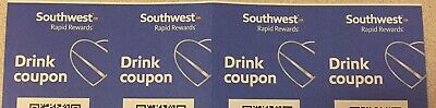 4 Southwest Airlines Drink Coupons Exp 11/2020